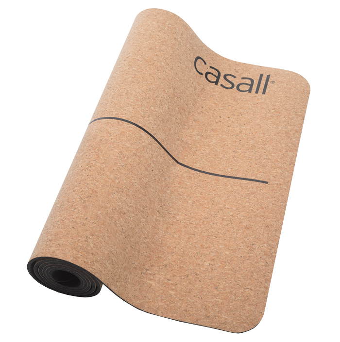 Yoga mat Casall natural cork 5mm - Natural cork/black
