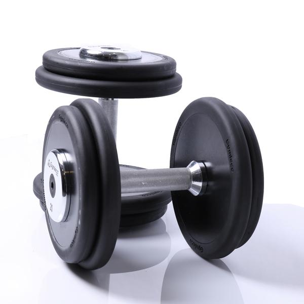 Fasta skivhantlar PU gummi, 5-100 kg