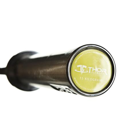Int. Women's Olympic WL Bar, Black 201 cm, 25 mm grepp