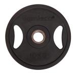 Gymleco viktskivor, gummerade svarta(50 mm Ø)