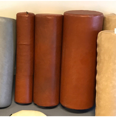 Cylinderkudde 50x15cm, brun