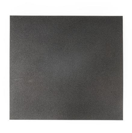 Gummigolv raka kanter 20mm, svart 1x1m